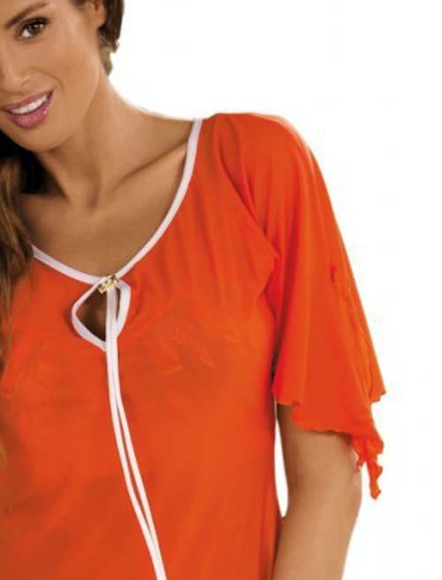 Oranžová italská plážová tunika