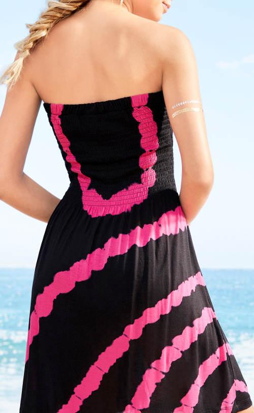 Plážové šaty nositelné jako sukně