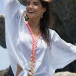 Dámská plážová tunika s netopyřími rukávy