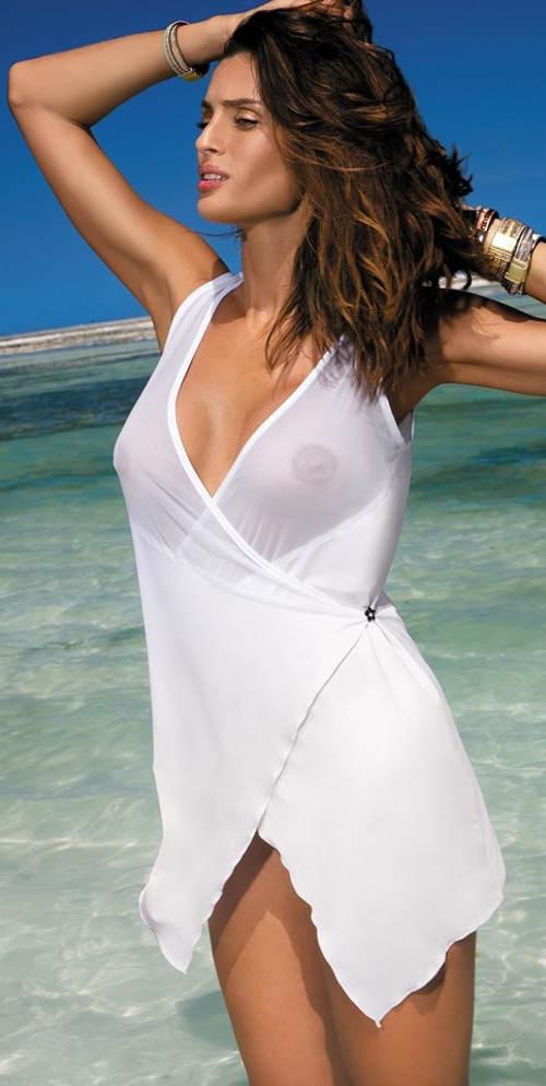 Průsvitné zavinovací plážové šaty