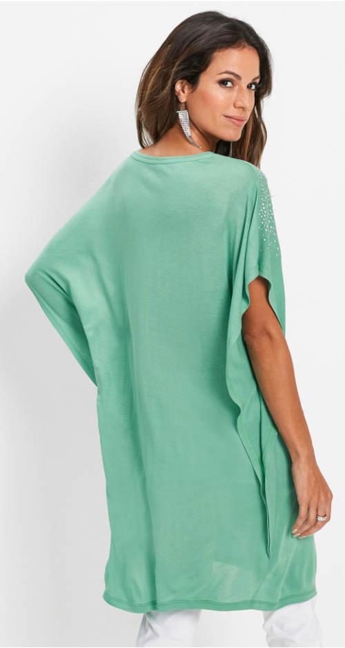 Volná zelená těhotenská tunika