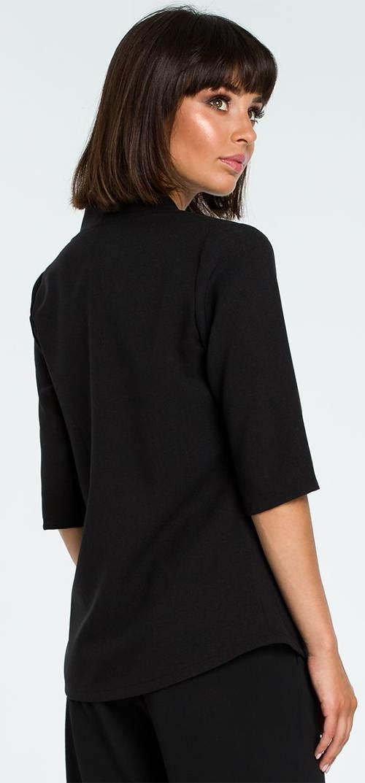 Jednobarevná černá halenka s tříčtvrtečními rukávy