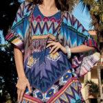 Lehké plážové šaty s etno vzorem