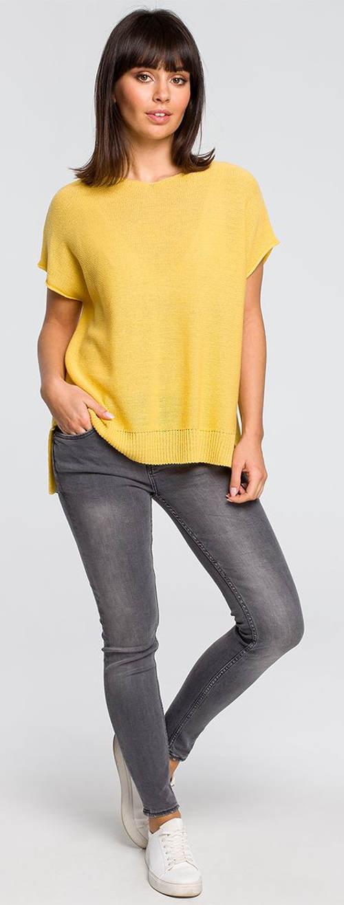 Lehký letní svetřík s krátkým rukávem