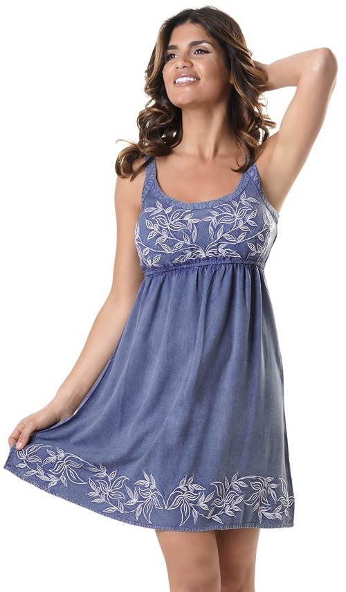 Riflové plážové šaty Christina