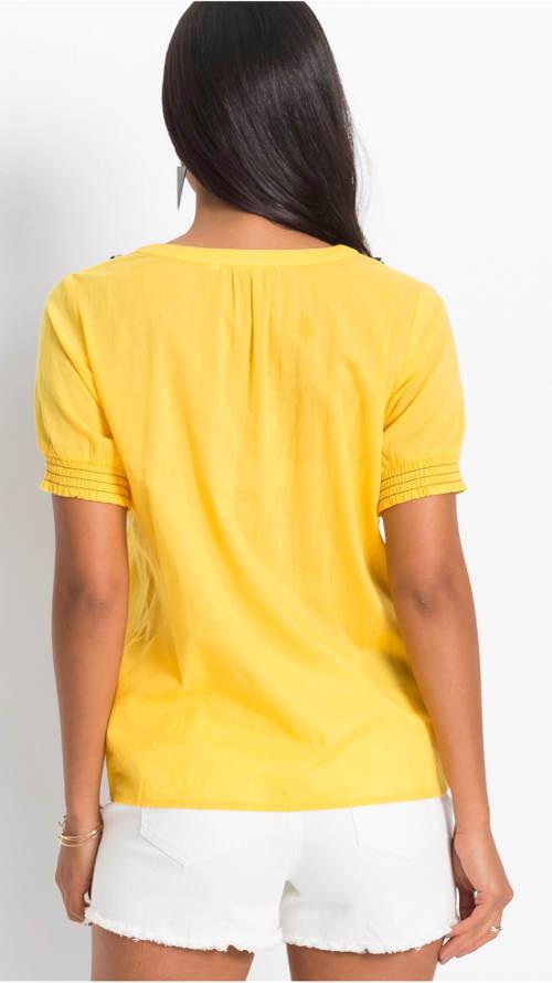 Žlutá tunika s krátkým rukávem