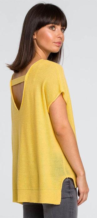 Žlutý tunikový pulovr