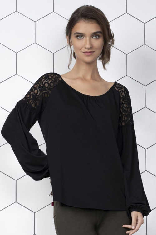 Elegantní dámské halenkové triko Malta z příjemného úpletu