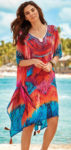 Pestrobarevné plážové šaty přes plavky Iconique Fuego