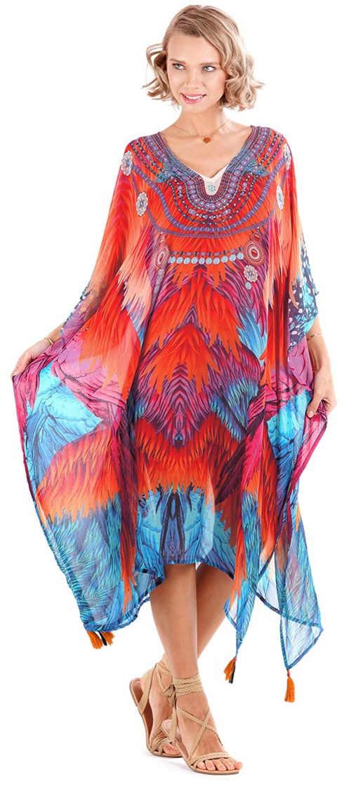 Pestrobarevné šaty na letní dovolenou