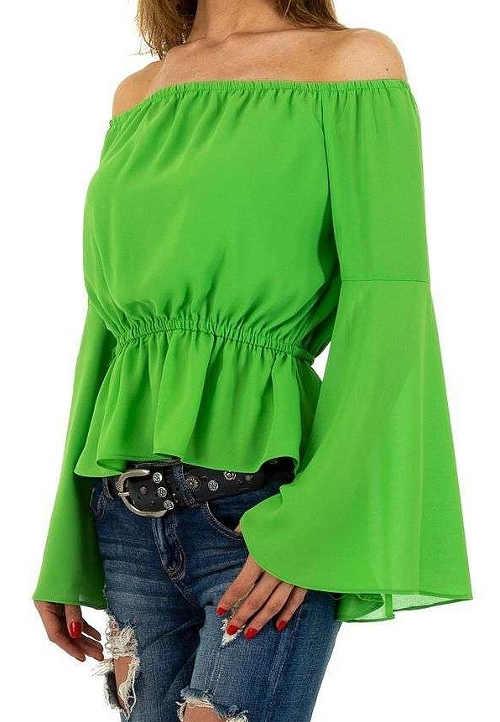 Hráškově zelená dámská halenka