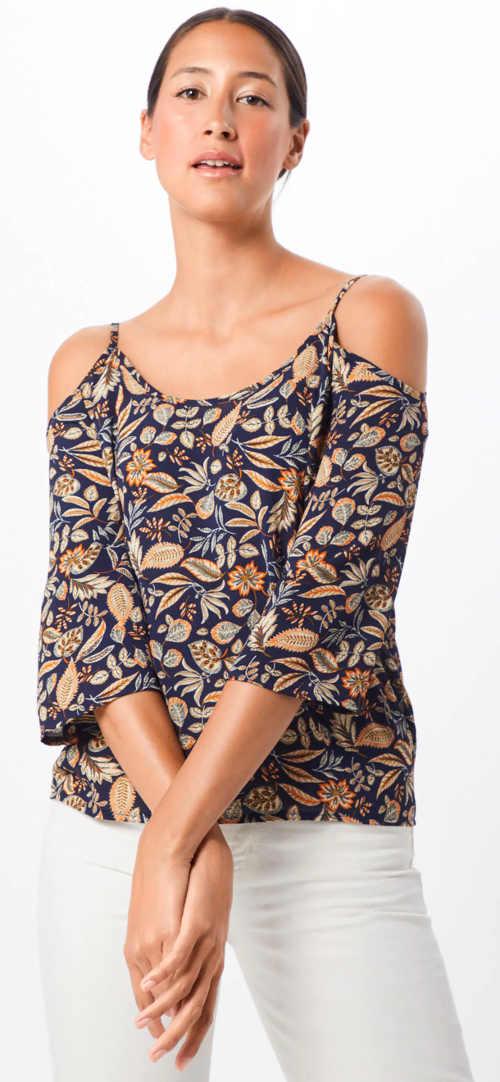Květovaná letní tunika s průstřihy na ramenou