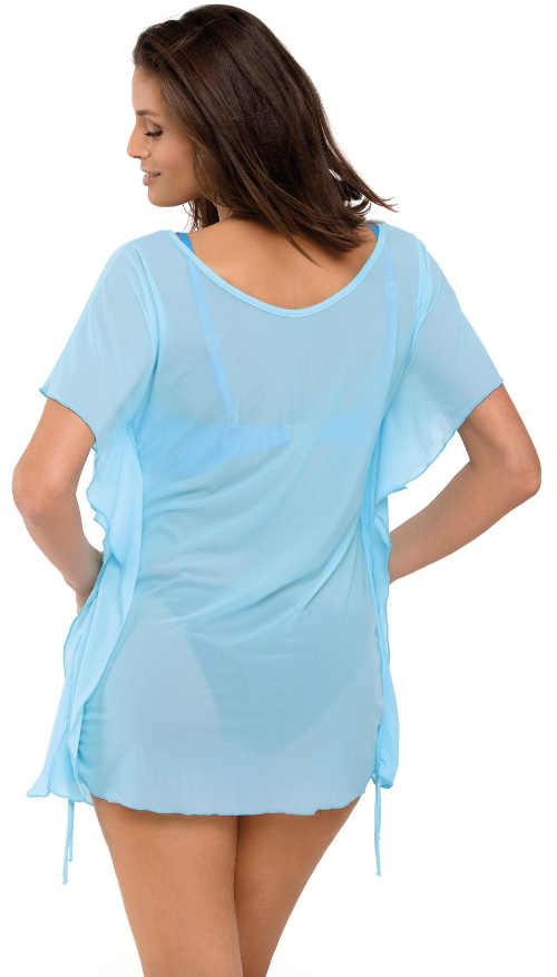 Lehounké poloprůsvitné šaty přes plavky se stahovacími boky