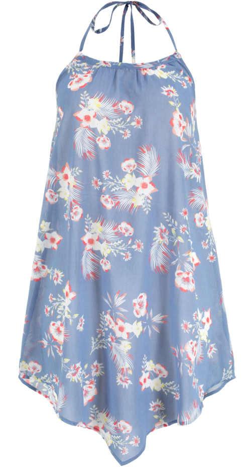 Letní plážové šaty s ramínky za krk