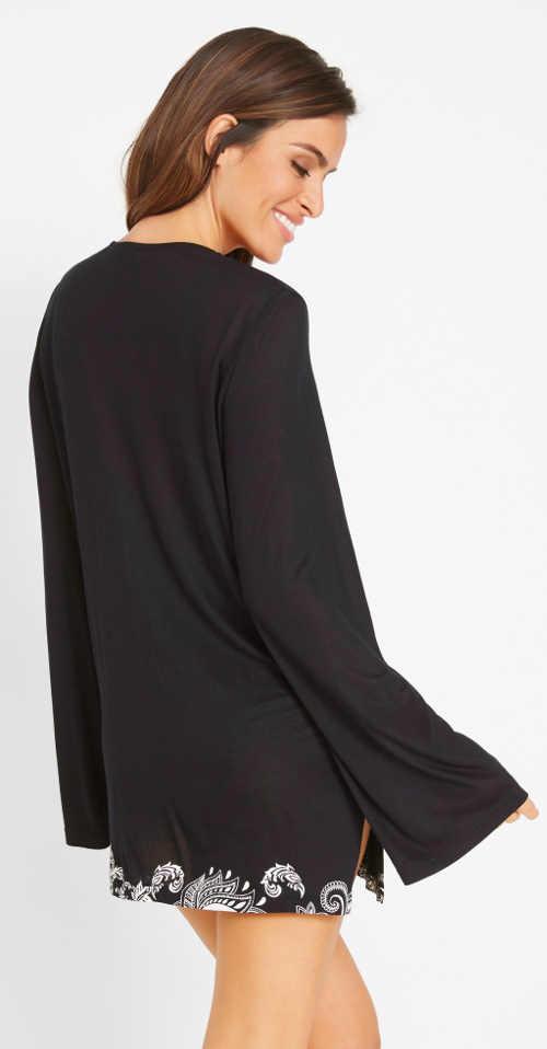 Letní tričko přes plavky s dlouhými rukávy