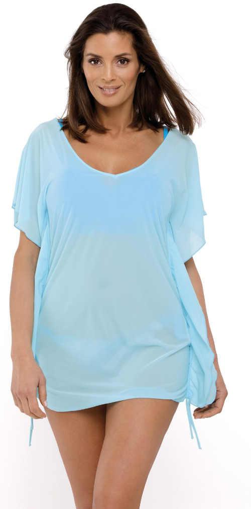 Plážová tunika v blankytně modré barvě