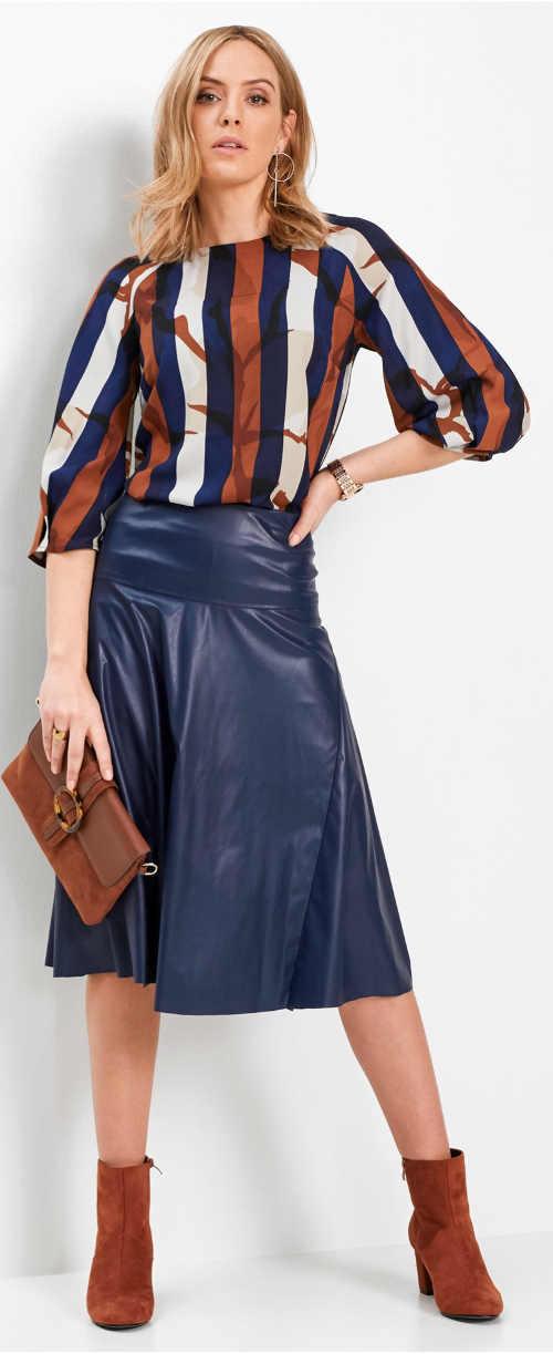 Pruhovaná barevná tunika k sukni