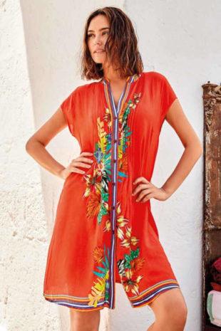 Plážové šaty ze vzdušného, příjemného a kvalitního materiálu