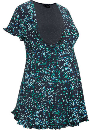 Těhotenská kojicí tunika v moderním grafickém vzoru