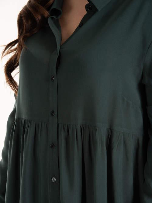 XXL košilová tunika s knoflíky