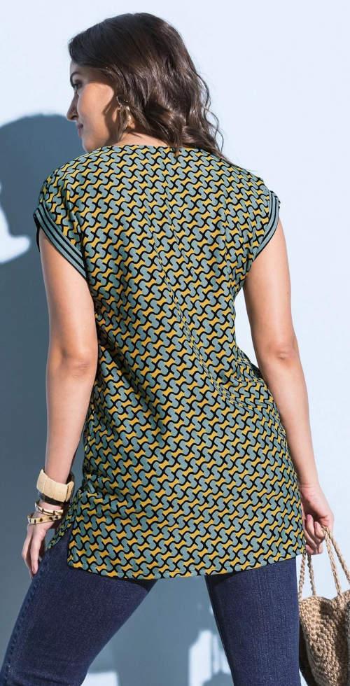 Letní tunikové triko s grafickým potiskem