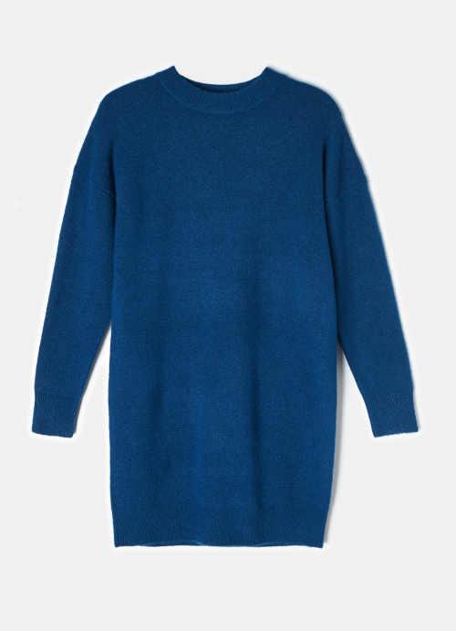 modrá tunika z pleteniny