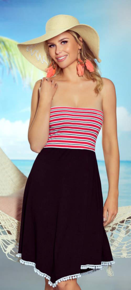 Pohodlné letní šaty bez ramínek