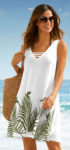 Prodloužená plážová tunika na ramínka