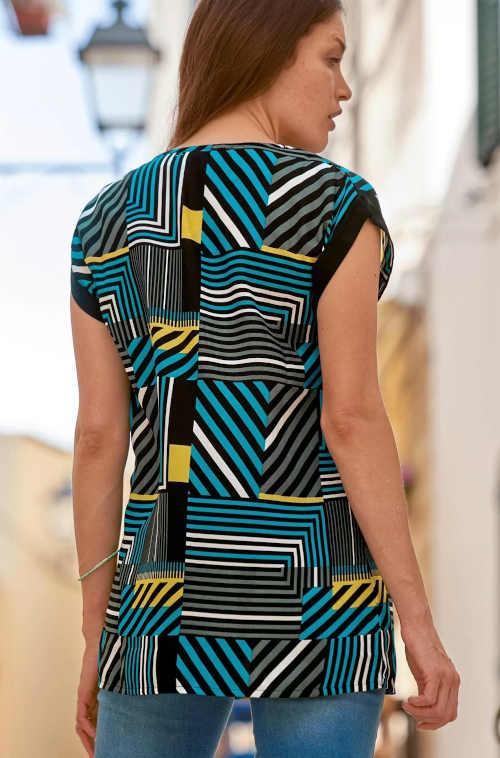 stylová dámská tunika s potiskem