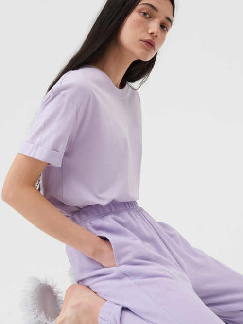 tunika z bavlny s krátkým rukávem