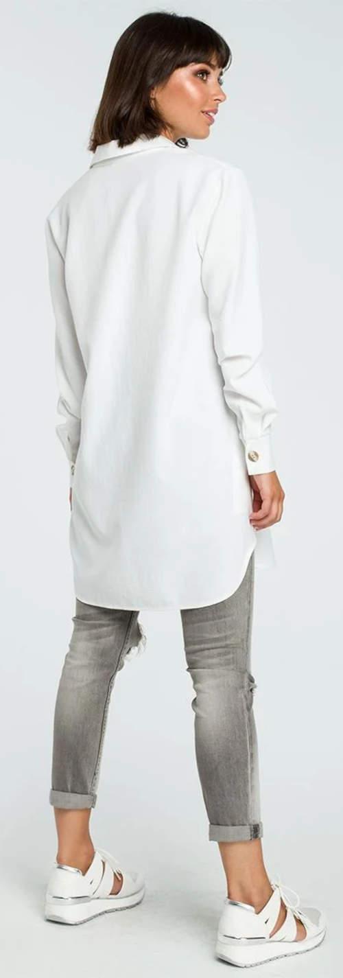 Dlouhá bílá košile k džínám