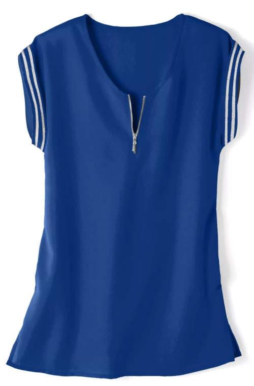 Modrá letní dámská tunika Blancheporte