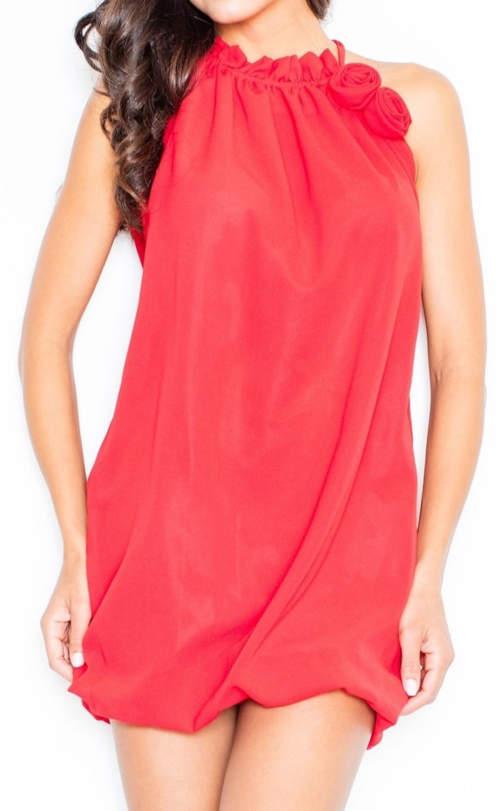 Červené letní ramínkové šaty