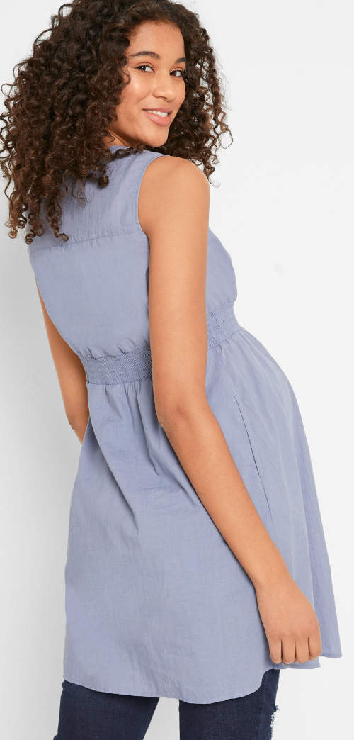 Letní těhotenské šaty bez rukávů