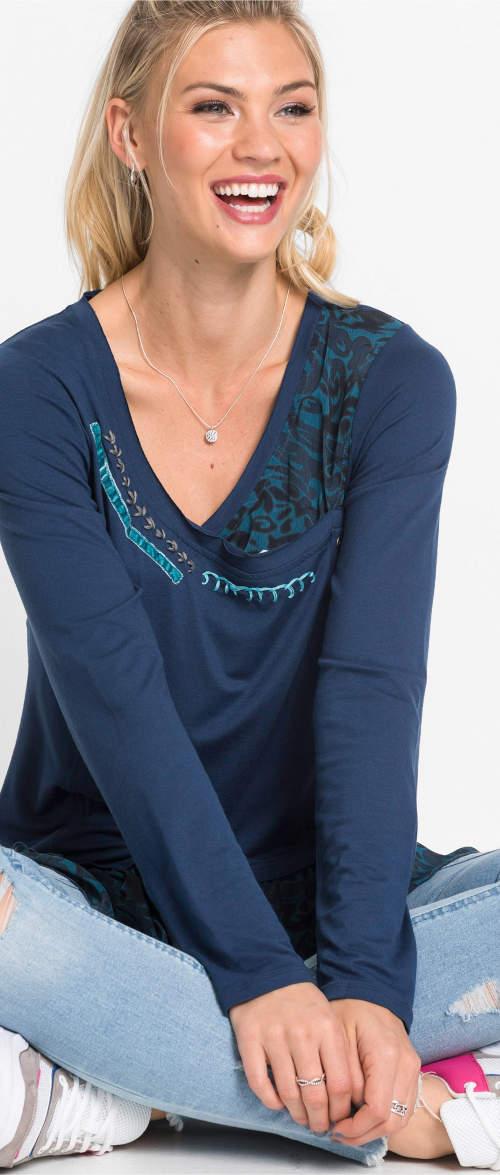Volnočasová modrá dámská tunika