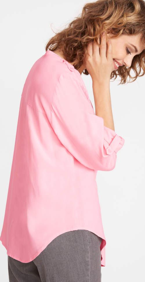 Světle růžová dámská tuniková halenka